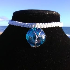 Jewelry - Macrame Turquoise Ocean Tree of Life Necklace